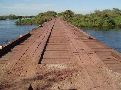 Ponte de 76 metros na região da Nhecolândia (Foto: Agesul)