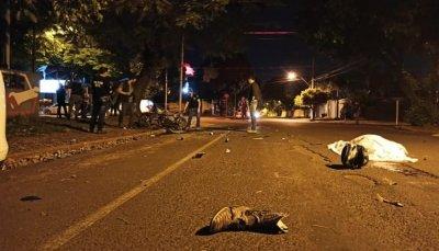A vítima morreu no local do acidente (Foto: Sidnei Bronka)